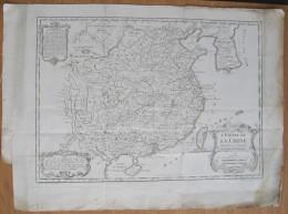 MAPPA CARTA GEOGRAFICA IMPERO DELLA CINA CHINA ANNO 1748 - Carte Geographique