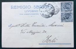 LIVORNO 1924 - REMIGIO SBRIGHI  CARTOLINA PUBBLICITARIA AUTOGRAFA CON FIRMA - Werbepostkarten