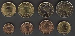 Estonia,  Full Set  1;2;5; 10;20;50 Euro Cents 1 ; 2  Ero All 2011 UNC - Estonie