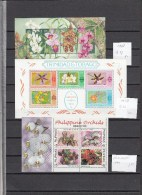 Flowers Orchids,23 Sets/5Blocks,small Collection,orchids,orchidee,orquidea,orchidea,bloemen,fleurs,MNH/Postfris (A1398) - Orchideeën