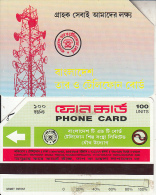 BANGLADESH(Urmet) - Radio Station(reverse B, Thin Band-text On 3 Lines, Tel 3285), Used