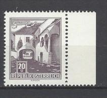 ÖSTERREICH - Mi-Nr. 1102 Randstück Bauernhof In Mörbisch Postfrisch (3) - 1945-.... 2. Republik