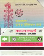 BANGLADESH(Urmet) - Radio Station(reverse B, Thin Band-text On 2 Lines, Tel 60256), Used