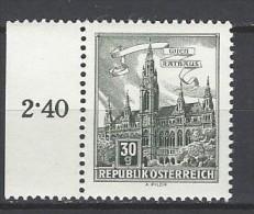 ÖSTERREICH - Mi-Nr. 1111 Randstück Wien Rathaus Postfrisch (3) - 1945-.... 2. Republik