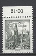 ÖSTERREICH - Mi-Nr. 1111 Randstück Wien Rathaus Postfrisch (5) - 1945-.... 2. Republik