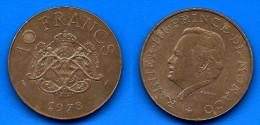 Monaco 10 Francs 1978 Franc Frc Frcs Que Prix + Port Rainier Paypal Skrill Bitcoin OK - Monaco