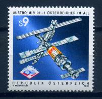 Austria 1991 / Europa Space Austro Mir MNH Espacio / Iw05  37 - Ruimtevaart