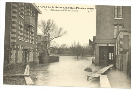 CPA Hauts De Seine - 92 - La Crue De La Seine 1910  Ile De CHATOU - Autres Communes