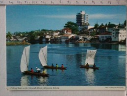 Cart -  Africa - Sierra Leone - Monrovia - Fishing Boats On The Mesurado River. - Sierra Leone