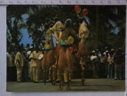 Cart -  Africa - Nigeria - Lagos - Agere ( Stilt ) Dancers. - Nigeria
