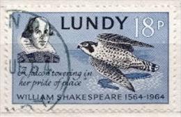 Lundy Used Stamp - Aquile & Rapaci Diurni
