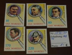 San Marino  Michel Nr: 1175 -79 Postfrisch ** MNH #4353 - Ungebraucht