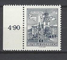 ÖSTERREICH - Mi-Nr. 1114 Randstück Residenzbrunnen In Salzburg Postfrisch (1) - 1945-.... 2. Republik