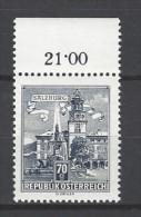 ÖSTERREICH - Mi-Nr. 1114 Randstück Residenzbrunnen In Salzburg Postfrisch (2) - 1945-.... 2. Republik