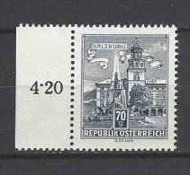 ÖSTERREICH - Mi-Nr. 1114 Randstück Residenzbrunnen In Salzburg Postfrisch (3) - 1945-.... 2. Republik