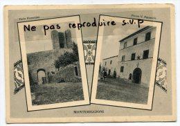 - Monteriggioni - 2 Vues, Porta Fiorentina Et  Piazza V. Emmanuele,  Rare, Grand Format, Non écrite, BE, Scans. - Siena