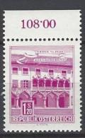 ÖSTERREICH - Mi-Nr. 1116 Randstück Kornmesserhaus In Bruck An Der Mur Postfrisch (1) - 1945-.... 2. Republik