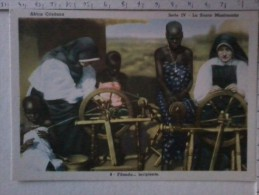 Cart -  Africa - Uganda - Africa Cristiana- Filanda ... Incipiente. N° 8. - Uganda