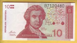 CROATIE - Billet De 10 Dinara. 8-10-91. Pick: 18. NEUF - Croatia