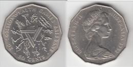 **** AUSTRALIE - AUSTRALIA - 50 CENTS 1982 XII COMMONWEALTH GAMES BRISBANE **** EN ACHAT IMMEDIAT !!! - Monnaie Décimale (1966-...)