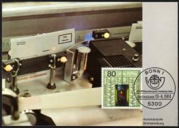 BRD 1984 - Weltpostkongreß Hamburg / Automatische Briefverteilung - MC Maximumkarte - Post