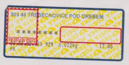 D-732) Tschechien  ATM Mit Kopfstehendem Aufdruck (Kehrdruck), Gelaufen Nach Deutschland - Abarten Und Kuriositäten