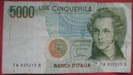 5000 Lire 1985 (WPM 111a) - [ 2] 1946-… : Repubblica
