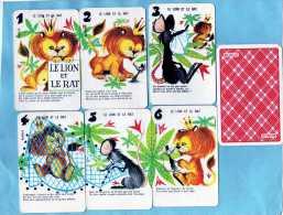 JEU 7 FAMILLES FABLES DE LA FONTAINE CADEAU BONUX FAMILLE LE LION ET LE RAT 6 CARTES - Autres