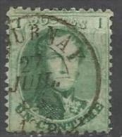 Belgique - Médaillon N°13A - Obl. DC Tournai 27 JUIL 65 - 1863-1864 Medallones (13/16)