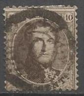 """Belgique - Médaillon N°14A  - Annulation à Barres + Cercle Avec Chiffre """"0"""" Au Centre - Curiosité De Composition - 1863-1864 Medallones (13/16)"""