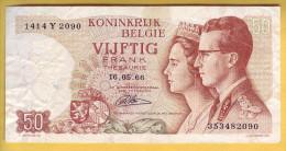 BELGIQUE - Billet De 50 Francs. 16-5-66. Pick: 139. TTB+/SUP - [ 6] Treasury