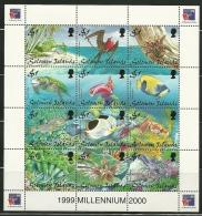 "Solomon Islands         ""Marine Life""      Sheet Of 12   SC#  874   MNH** - Solomon Islands (1978-...)"