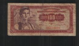YUGOSLAVIA 100 Dinara 1955 - Yugoslavia