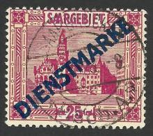 Saar, 25 C. 1923, Sc # O9, Mi # 14, Used. - Officials