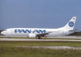 PAN AM, Boeing 737-4Q8, Unused Postcard [15450] - 1946-....: Moderne