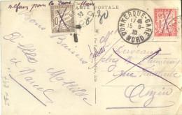 _5TX897:  Refusé Lour La Taxe - DUNKERQUE-GARE NORD + Rebut : 49 MALO-les-Bains - La Plage 1932 - Postage Due