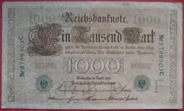 1000 Mark 1910 (WPM 45b) 21.4.1910 - 1871-1918: Deutsches Kaiserreich