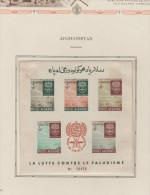 O)1962 AFGHANISTAN, AGAINST MALARIA, EMBLEM, LOGO, IMPERFORATE MINI SHEET MINT - Afghanistan