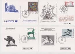 Lot De 4 Souvenirs Philatéliques (Réservataires Des Bureaux De Poste) - Documents De La Poste