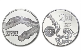 "PORTUGAL  2,50 € 2.014 2014 Cu Ni UNCirculated  ""Universidade De COIMBRA Alta E Sofia""  T-DL-11.162 Alem. - Portugal"