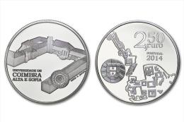 "PORTUGAL  2,50 € 2.014 2014 Cu Ni UNCirculated  ""Universidade De COIMBRA Alta E Sofia""  T-DL-11.162 Austria - Portugal"