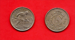 LUXEMBURG, 1946, Circulated Coin, 1 Franc, Copper Nickel, Km46.1, C1658 - Luxemburg