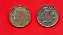 LUXEMBURG, 1965-87, Circulated Coin, 1 Franc, Copper Nickel, Km55, C1660 - Luxemburg