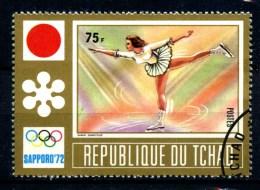 Repubbl. Del TCHAD - Year 1972 - Olimpiadi Di SAPPORO - Pair Skating - Usato - Used. - Pattinaggio Artistico