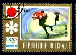 Repubbl. Del TCHAD - Year 1972 - Olimpiadi Di SAPPORO - Speed Skating - Usato - Used. - Pattinaggio Artistico