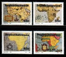 BOPHUTHATSWANA, 1993, MNH Stamp(s), Old Maps,  Nr(s)  303-306 - Bophuthatswana