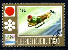 Repubbl. Del TCHAD - Year 1972 - Olimpiadi Di SAPPORO - Sledding - Usato - Used. - Pattinaggio Artistico