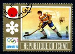 Repubbl. Del TCHAD - Year 1972 - Olimpiadi Di SAPPORO - Ice Hockey - Usato - Used. - Hockey (su Ghiaccio)