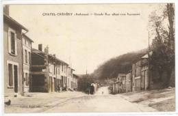 Chatel Chehery (Ardennes) Grande Rue Allant Vers Apremont - Other Municipalities
