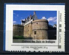 """Chateau Des Ducs De Bourgogne Adhésif Neuf ** . Collector """" LES PAYS DE LA LOIRE """" 2009 - France"""